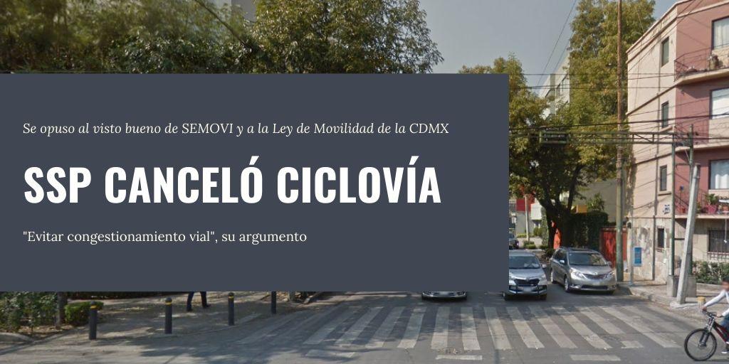 ssp canceló ciclovía