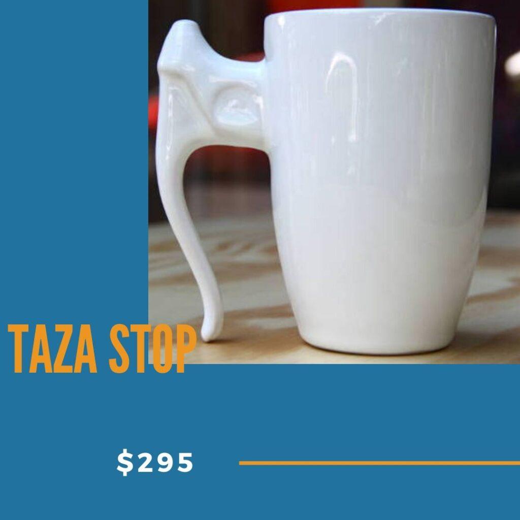 taza stop de cerámica