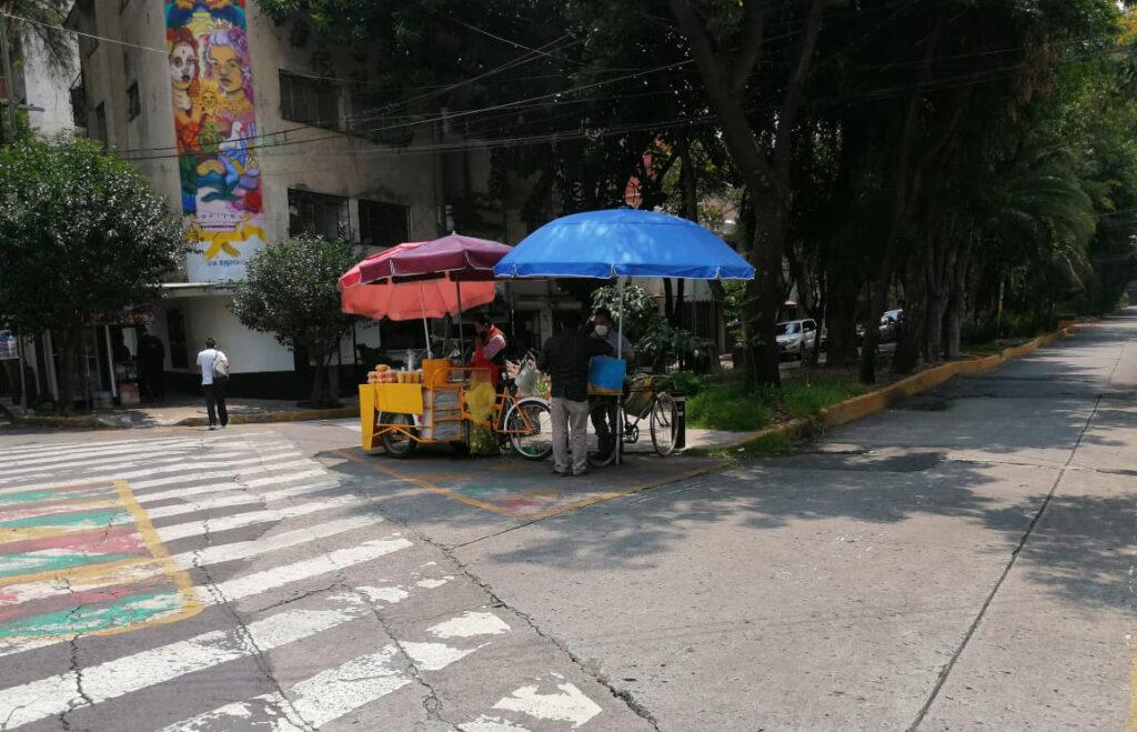 triciclos de comida en la colonia Condesa