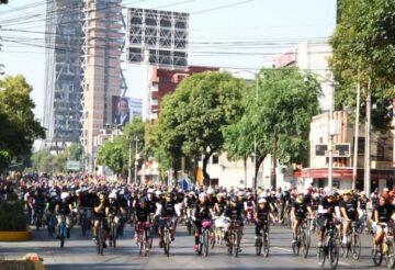 Bicicletas circulan por calles de la Ciudad de México