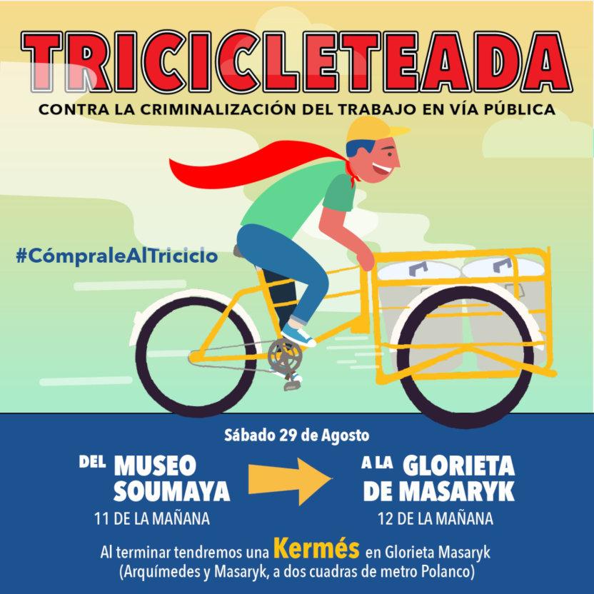 Cartel de la Kermés de triciclos