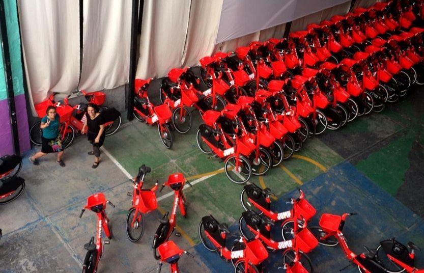 Las bici catarinas resguardadas en el Recinto Escandón