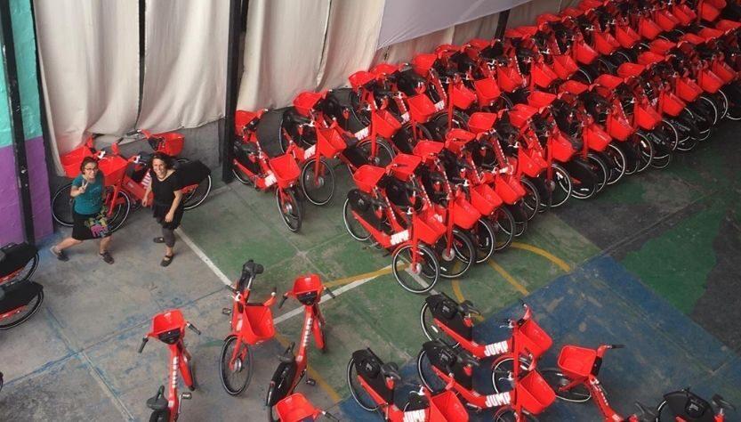 Bici Catarinas en recinto Escandón