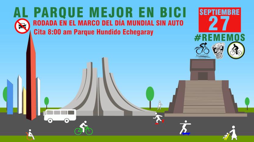 Flyer de rodada por una red de ciclovías en el estado de México