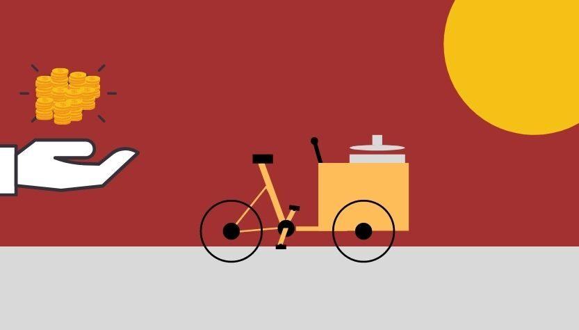 comercio en la vía pública, ilustración