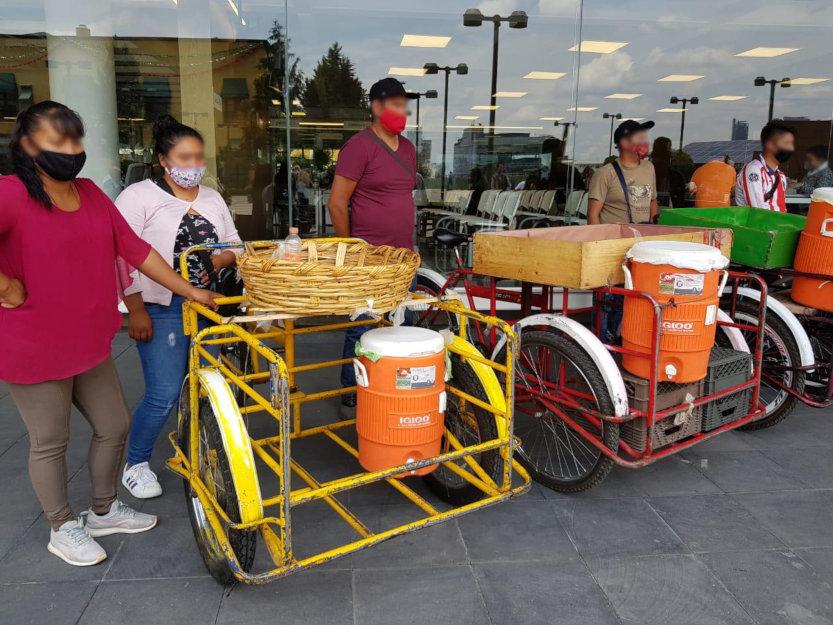 Vendedores en la vía pública