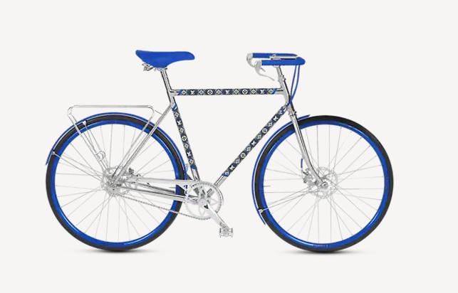 Bicicleta Louis Vuitton cuadro diamante azul