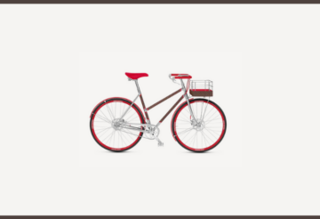 Bicicleta Louis Vuitton con rines de madera rojos