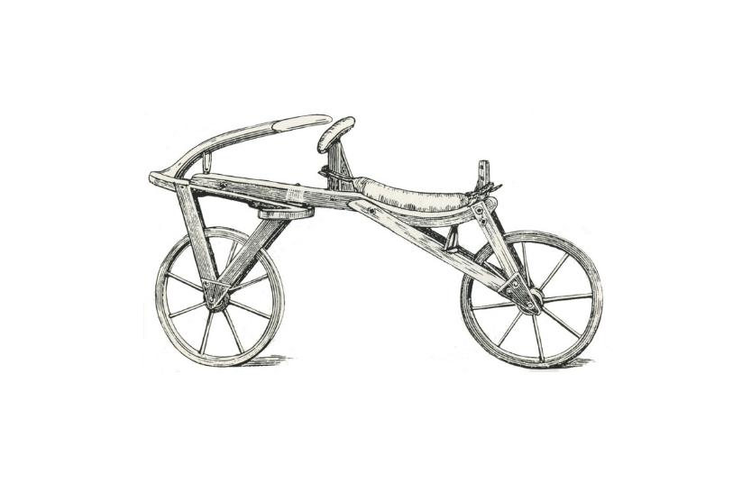 Bicicleta draisiana, para ilustrar la historia del ciclismo urbano
