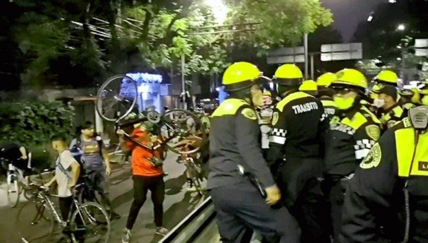 ONU-DH reprueba represión a ciclistas