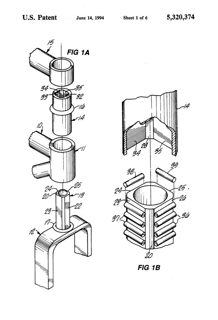 Dibujo de la patente de suspensión HeadShok